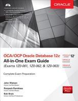 OCA OCP Oracle Database 12c All in One Exam Guide  Exams 1Z0 061  1Z0 062    1Z0 063  PDF