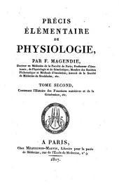 Précis élémentaire de physiologie: Volume2