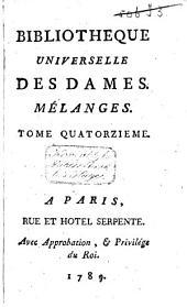 Bibliothèque universelle des dames: Volume12