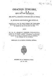 Oracion fúnebre que en las exequias de D. Antonino Sentmanat de Cartellá: celebradas por el real cuerpo de capellanes de honor ...