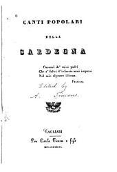 Canti popolari della Sardegna ...