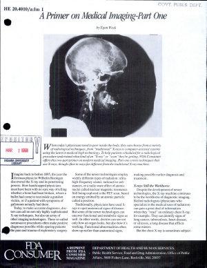 A Primer on Medical Imaging