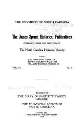 The Provincial Agents of North Carolina