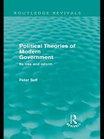 Political Theories of Modern Government  Routledge Revivals  PDF