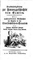 Denkw  rdigkeiten zur Finanzgeschichte von Sachsen PDF