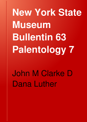 New York State Museum Bullentin 63 Palentology 7