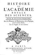 Histoire de l'Académie Royale des Sciences: avec les mémoires de mathématique et de physique pour la même année : tirés des registres de cette Académie. 1772,1 (1775)