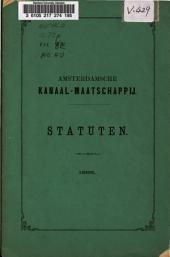 Conrad collection on Dutch waterways: Amsterdamsche Kanaal-Maatschappij. Atatuten (1869)