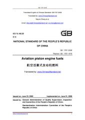 GB 1787-2008: Translated English of Chinese Standard. You may also buy from www.ChineseStandard.net GB1787-2008.: Aviation piston engine fuels.