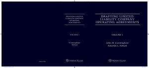 Drafting LLC Operating Agreements  5th Edition