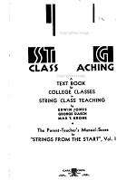 String class teaching