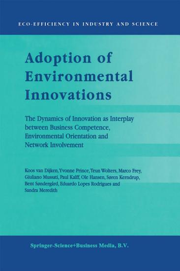 Adoption of Environmental Innovations PDF