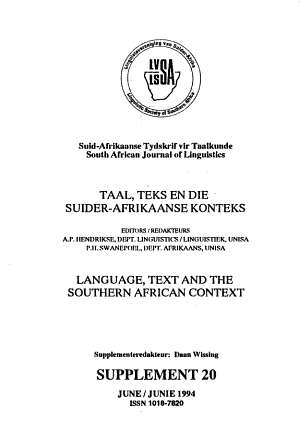 Language, Text and the Southern African Context