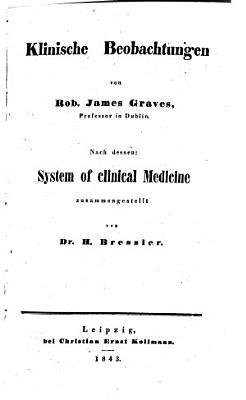 Klinische Beobachtungen von Rob  James Graves PDF