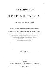 The History of British India: Volume 2