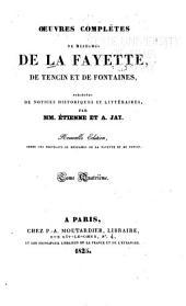 Notice sur Madame de Tencin [par M. Étienne] Mémoires du comte de Comminge, Le siége de Calais [par Mme. de Tencin