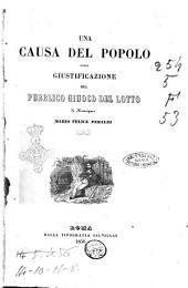 Una causa del popolo ossia giustificazione del pubblico giuoco del lotto di monsignor Mario Felice Peraldi