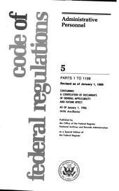 Code of Federal Regulations: 1985-1999