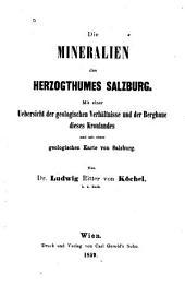 Die Mineralien des Herzogthumes Salzburg: mit einer Uebersicht der geologischen Verhältnisse und der Bergbaue dieses Kronlandes, und mit einer geologischen Karte von Salzburg