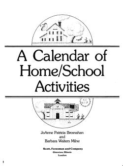 A Calendar of Home School Activities PDF