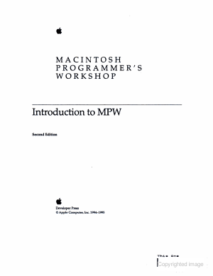 Introduction to MPW