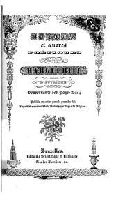 Albums et œuvres poétiques de Marguerite d'Autriche, gouvernante des Pays-Bas
