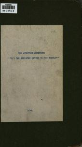 """The Question Answered: """"Did the Ministry Intend to Pay Rebels?"""": In a Letter to His Excellency the Right Honorable the Earl of Elgin and Kincardine, K.T., Governor General of British North America"""