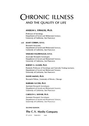 Chronic Illness and the Quality of Life PDF