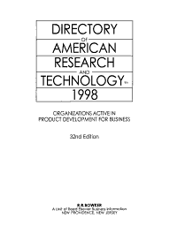 Directory of American Research and Technology PDF