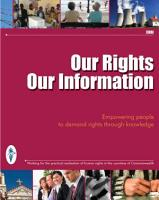 Our Rights  Our Information PDF