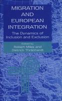 Migration and European Integration PDF