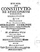 De constitutione Episcoporum Germaniae exercitatio