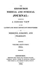 The Edinburgh Medical and Surgical Journal: Volume 61
