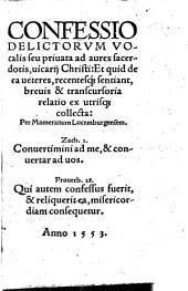 Confessio delictorum vocalis seu privata ad aures sacerdotis, vacarii Christi