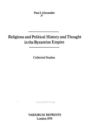 Religious and Political History and Thought in the Byzantine Empire PDF