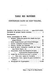L'Abeille: journal d'entomologie, Volume13