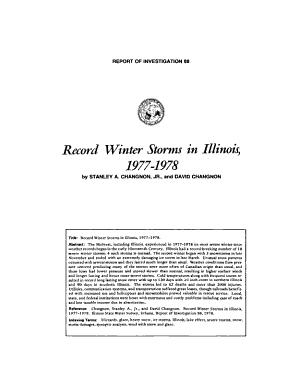 Record Winter Storms in Illinois  1977 1978 PDF