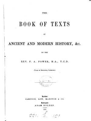 The book of texts of ancient and modern history   c PDF