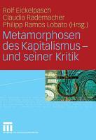 Metamorphosen des Kapitalismus   und seiner Kritik PDF