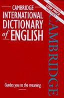 Download Cambridge International Dictionary of English Book