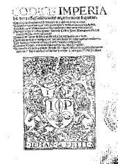 Codicis imperialis vera effigiatio, cuius argumentum sequitur: tituli leges et autentice sub triplici indice alphabetico ponuntur ...
