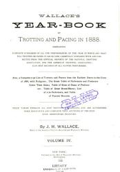 Wallace s Year book of Trotting and Pacing in     PDF