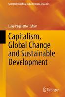 Capitalism  Global Change and Sustainable Development PDF
