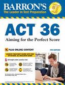 Barron s ACT 36  with Bonus Online Tests