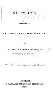 Sermons preached in St. George's Church, Everton