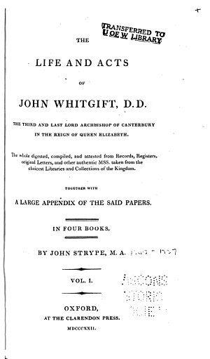 The life and acts of John Whitgift  Book 1 3