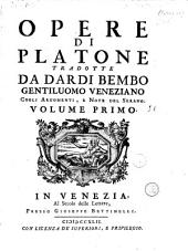 Opere di Platone, cogli: Volume 1