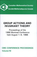 Group Actions and Invariant Theory PDF