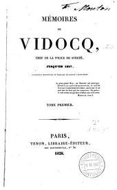 Mémoires de Vidocq, chef de la police de la Sureté jusqu'en 1827