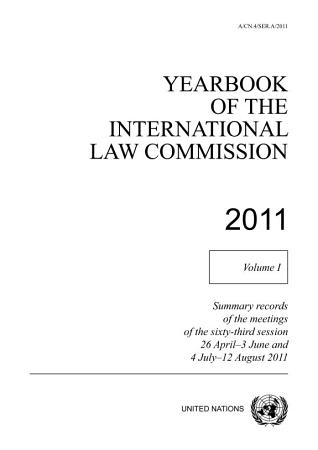 Yearbook of the International Law Commission 2011 PDF